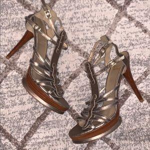 STUART WEITZMAN Bronze Heels size 8.5